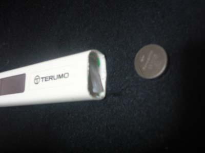 交換 電池 電子 テルモ 体温計
